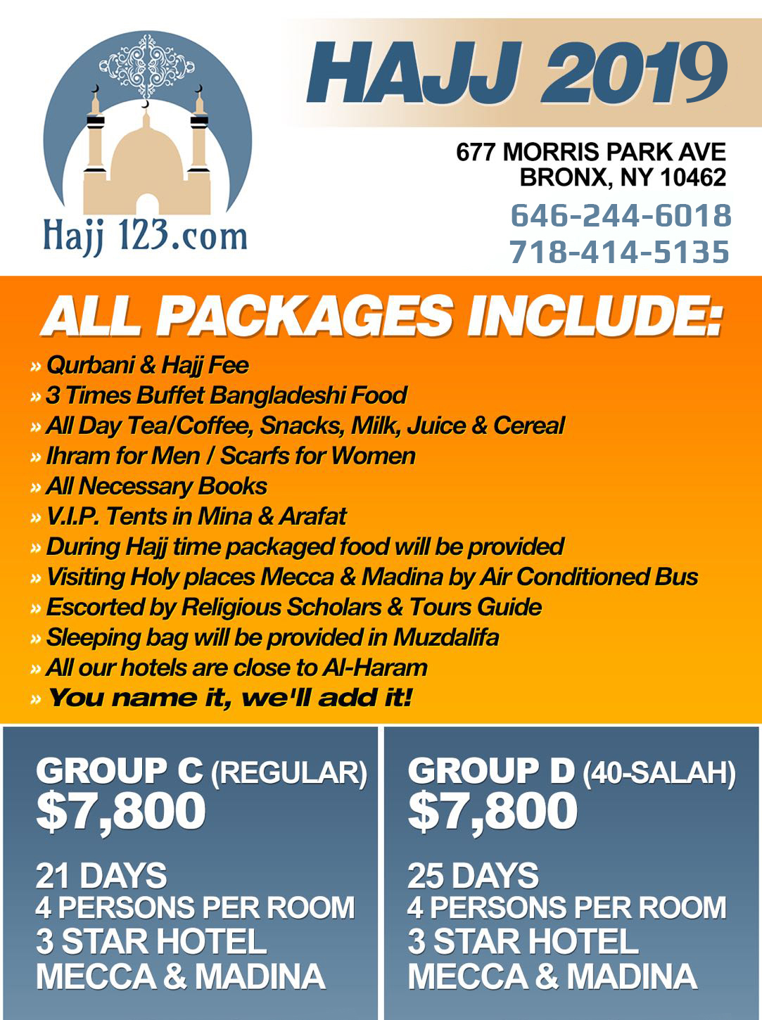 HAJJ PACKAGES – Hajj One two three